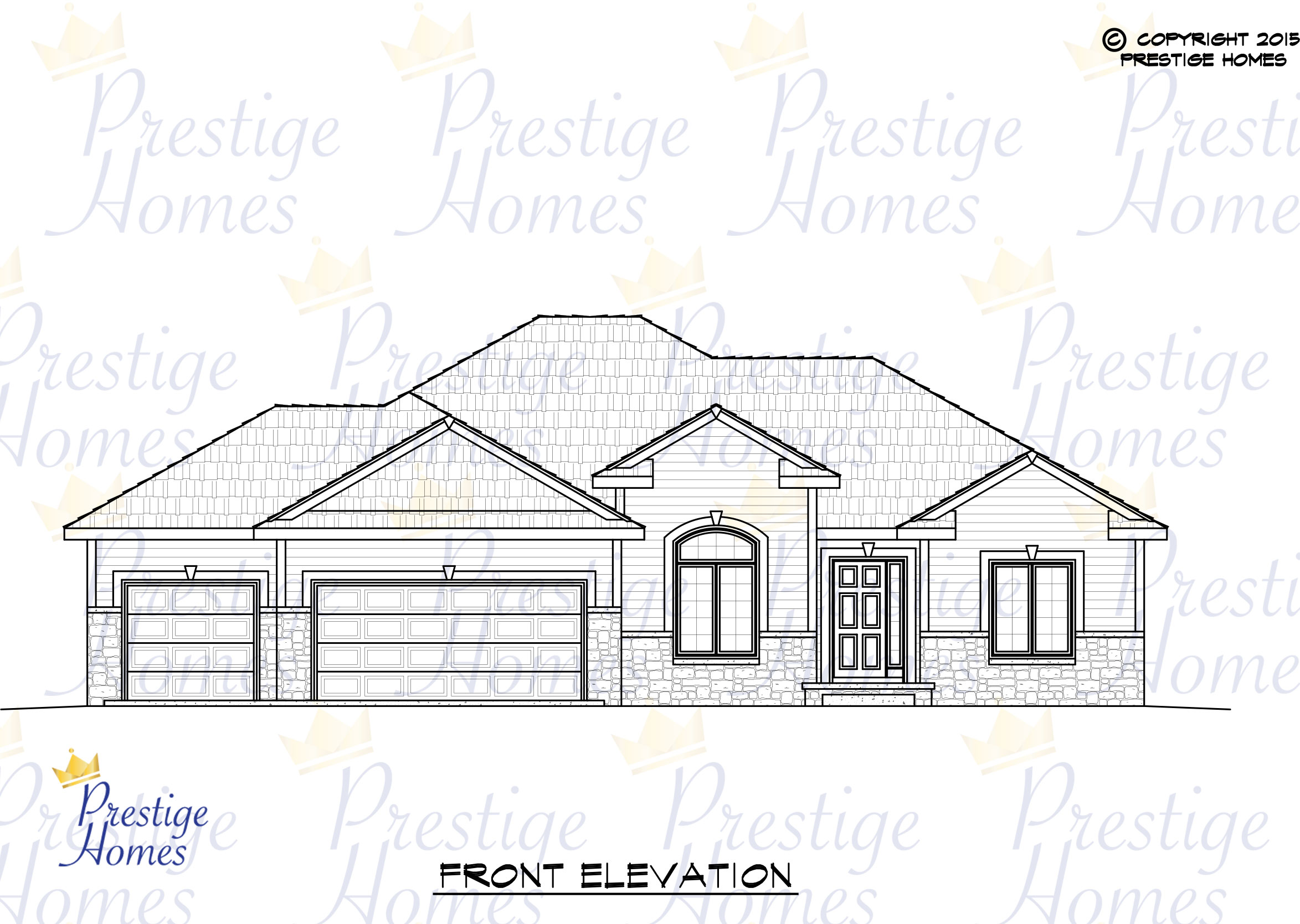 Prestige Homes - Floor Plan - Anna - Front
