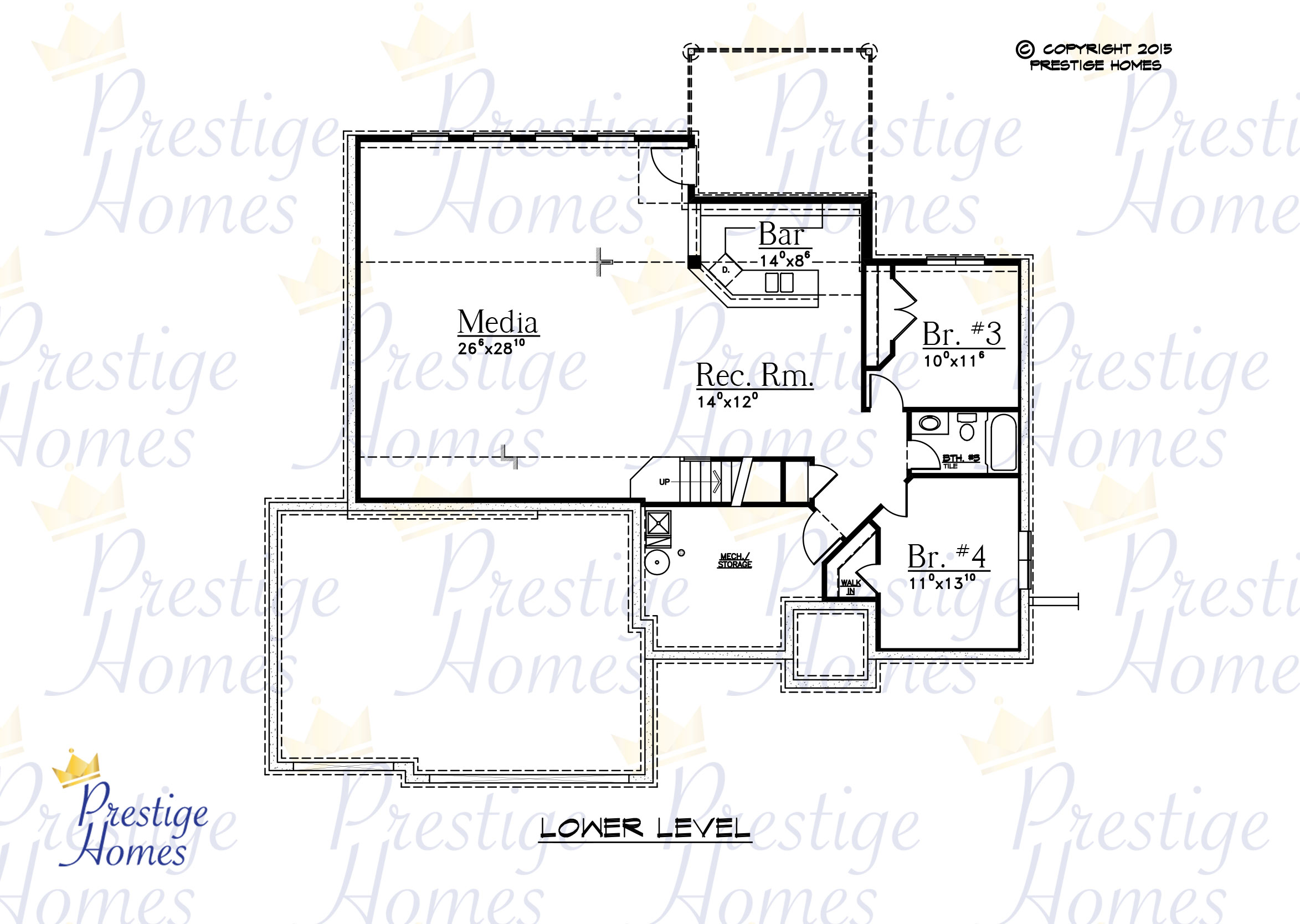 Prestige Homes - Floor Plan - Anna - Lower