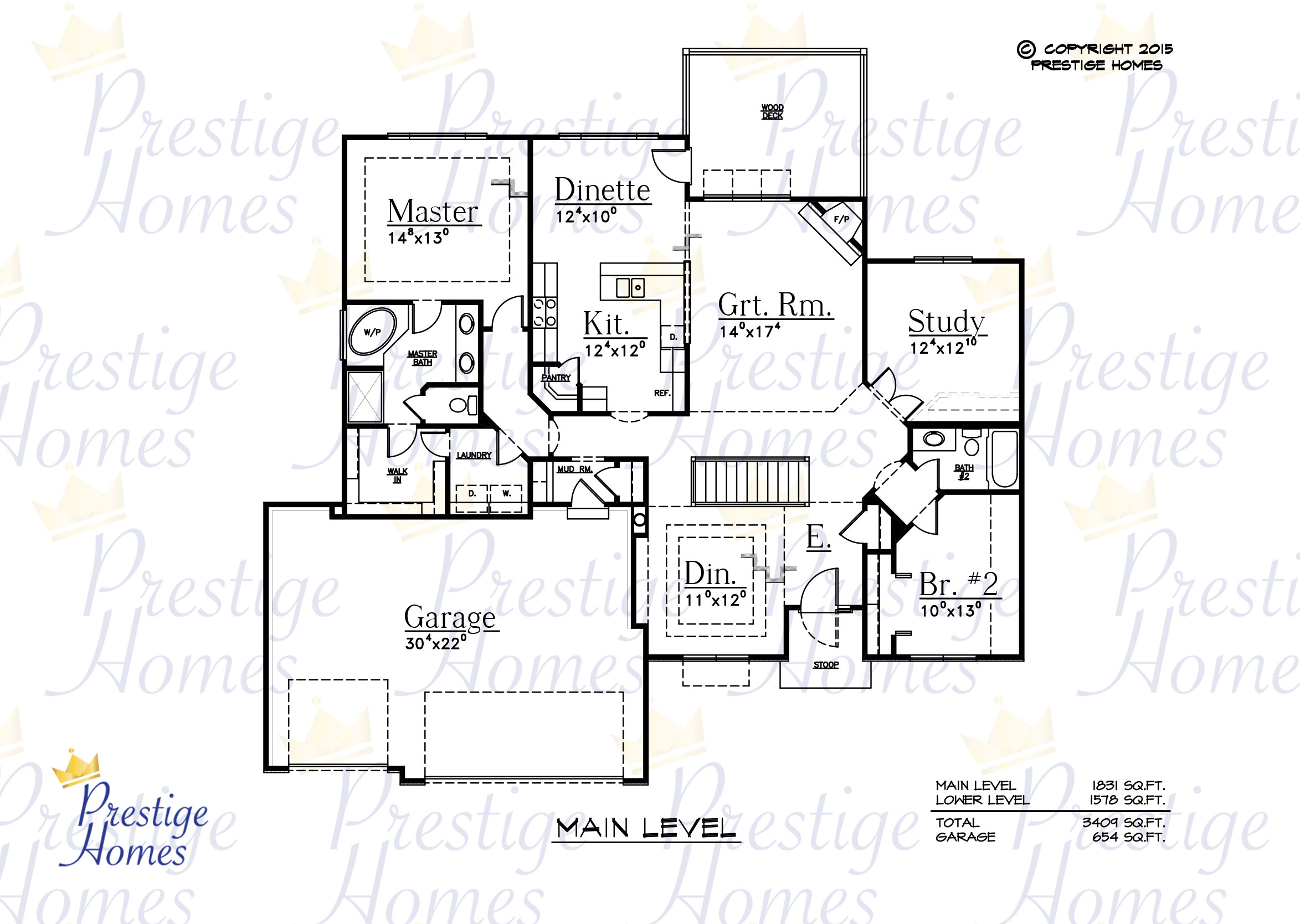 Prestige Homes - Floor Plan - Anna - Main