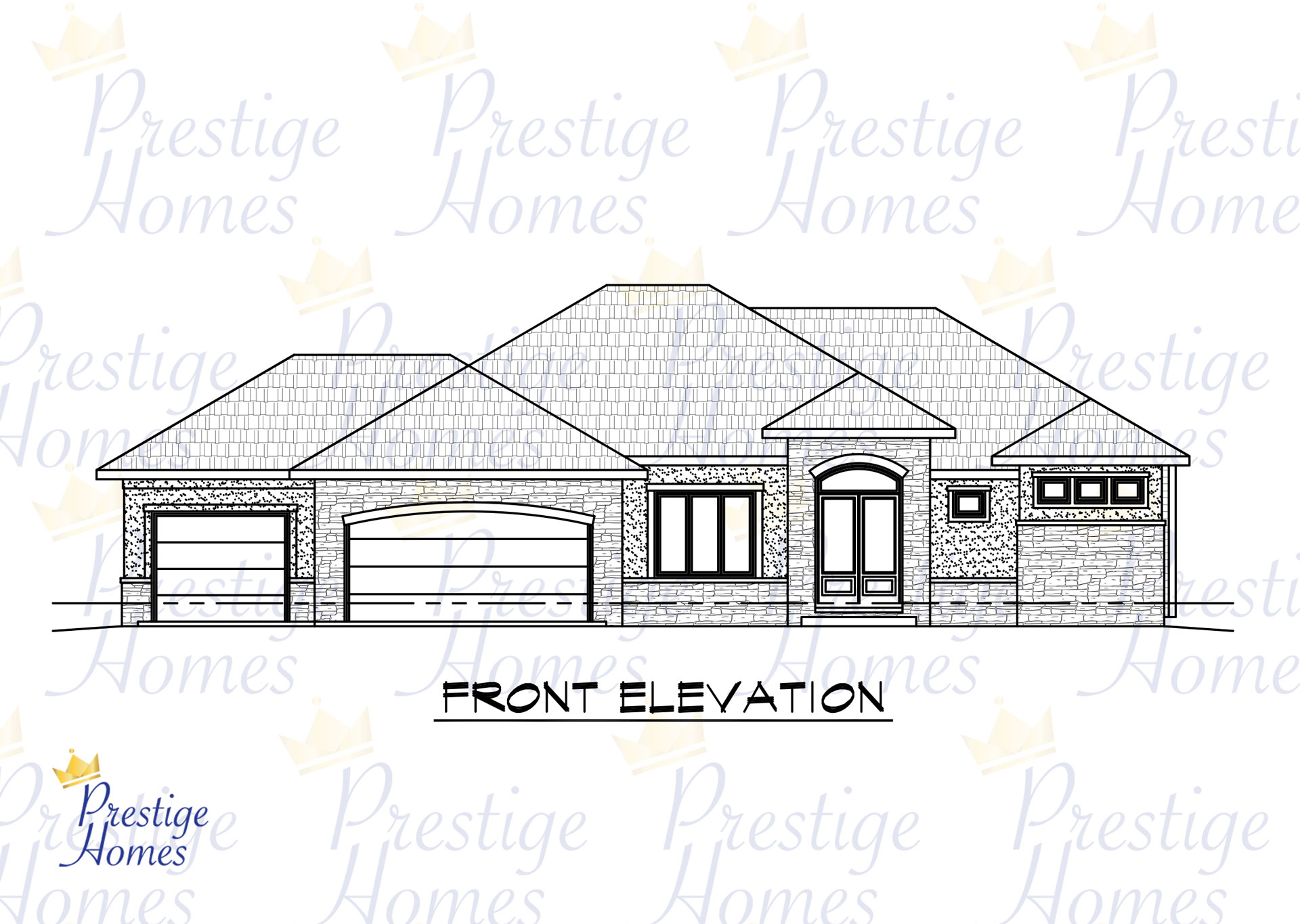 Prestige Homes - Floor Plan - Bella 3 Bedroom Front