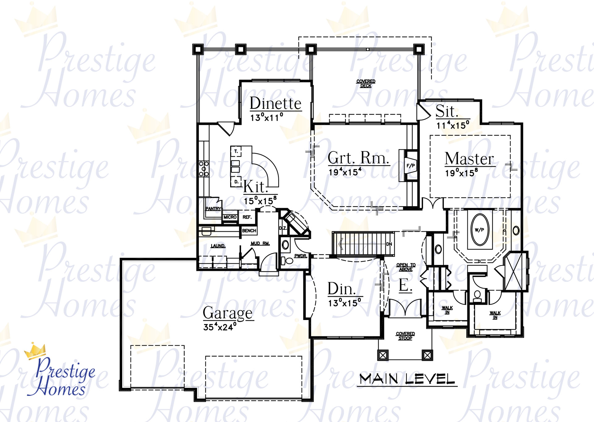 Prestige Homes - Floor Plan - Bella 3 Bedroom Main