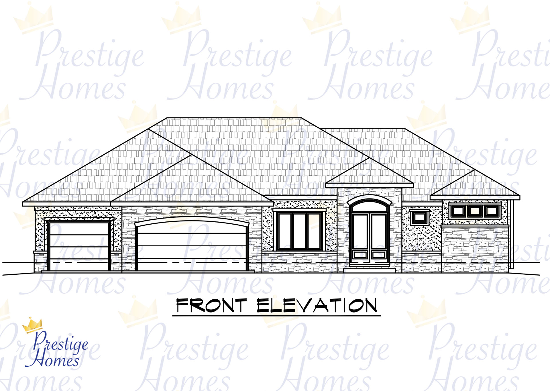 Prestige Homes - Floor Plan - Bella 4 Bedroom Front