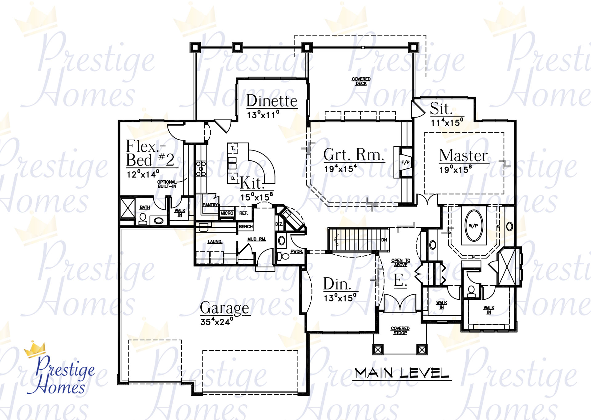 Prestige Homes - Floor Plan - Bella 4 Bedroom
