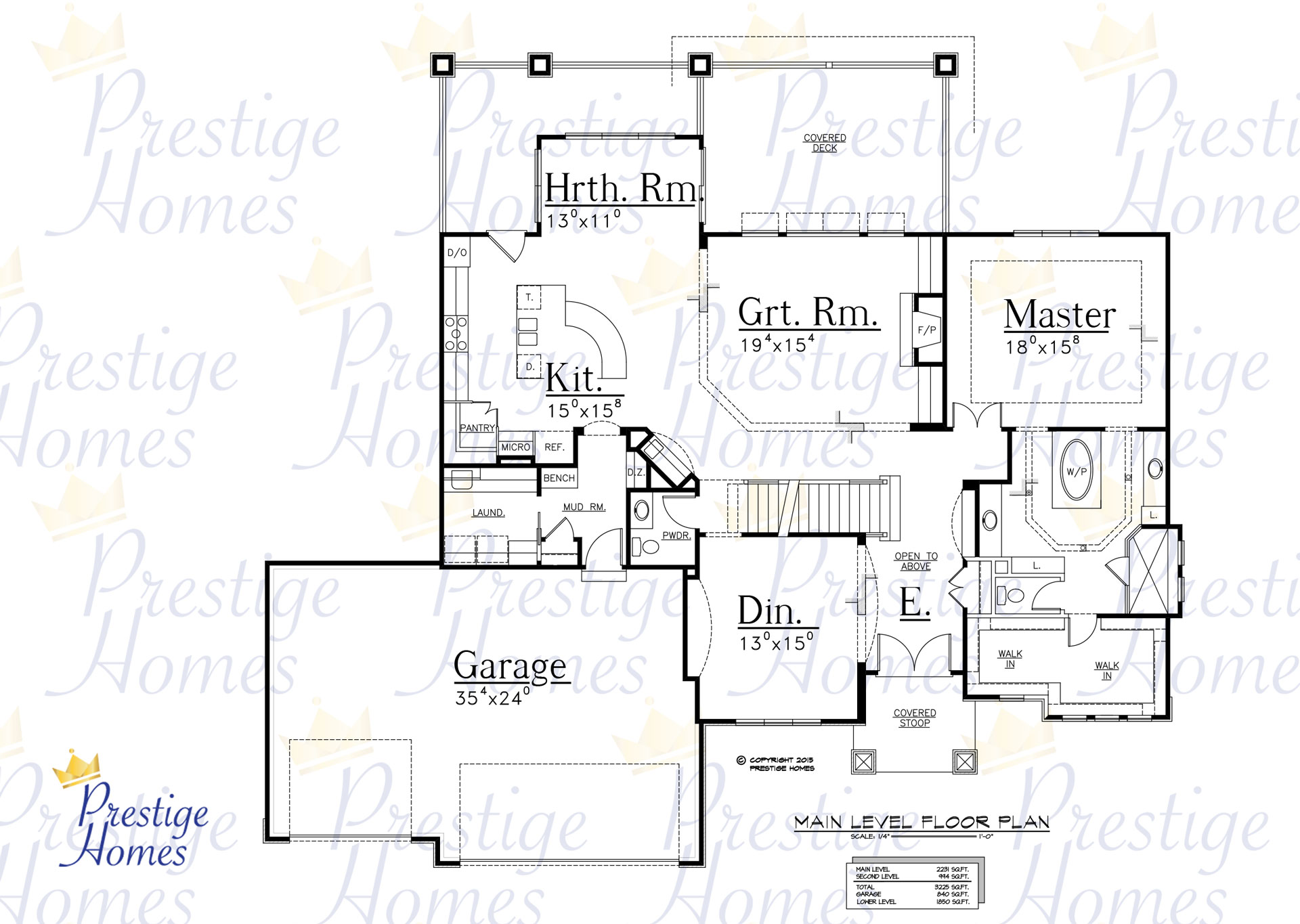 Prestige Homes - Floor Plan - Bella Reduced Footage - Main