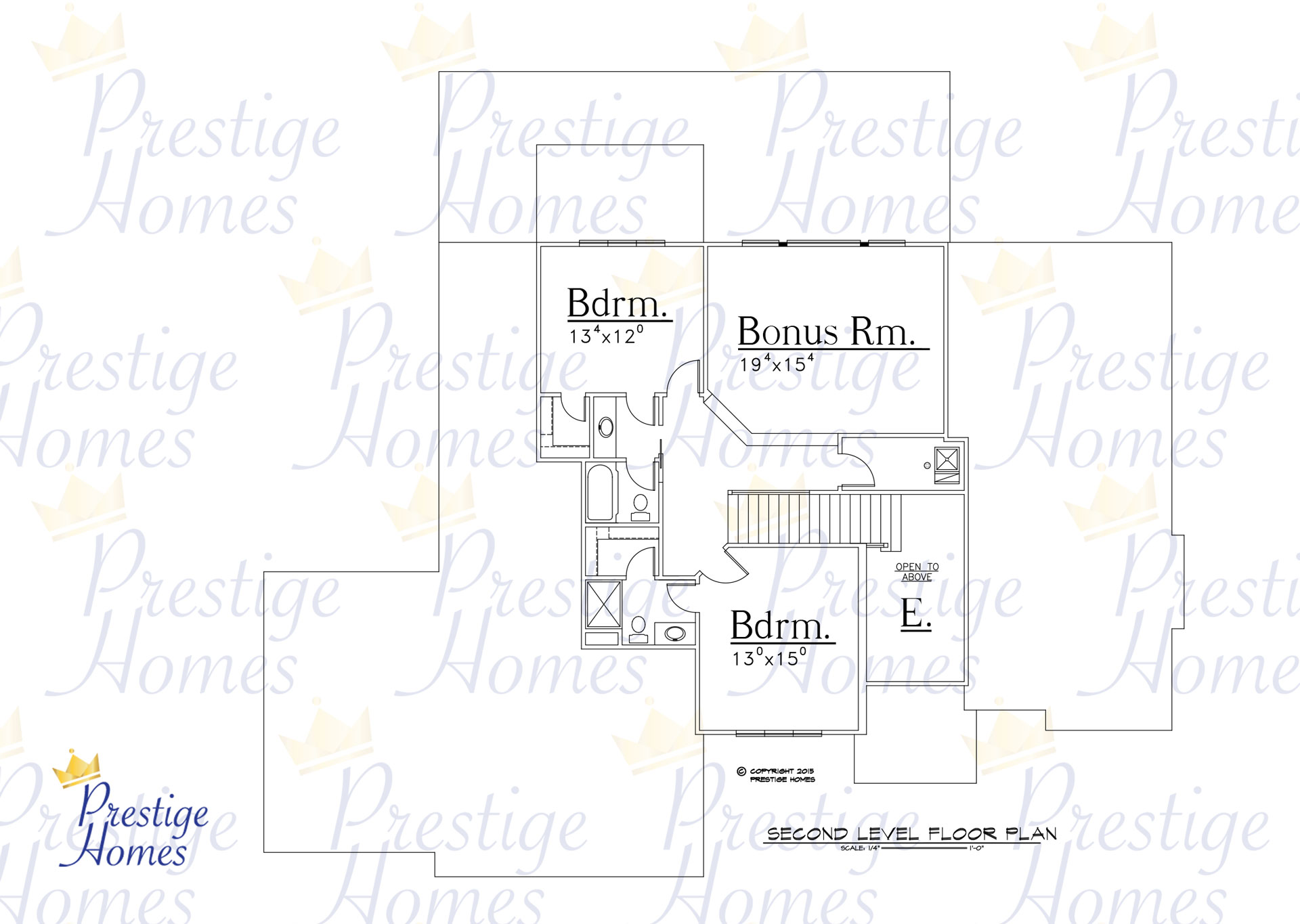 Prestige Homes - Floor Plan - Bella Reduced Footage - Upper