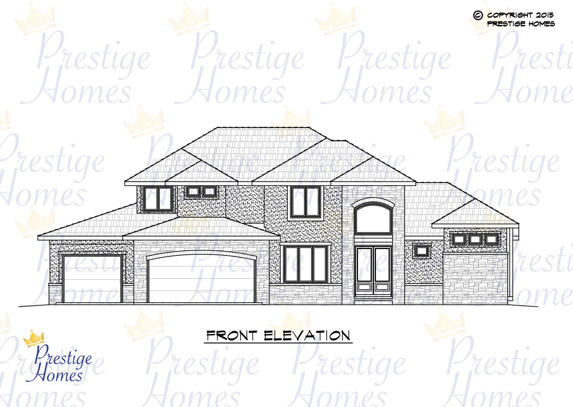 Prestige Homes - Floor Plan - Bella SOD - Front