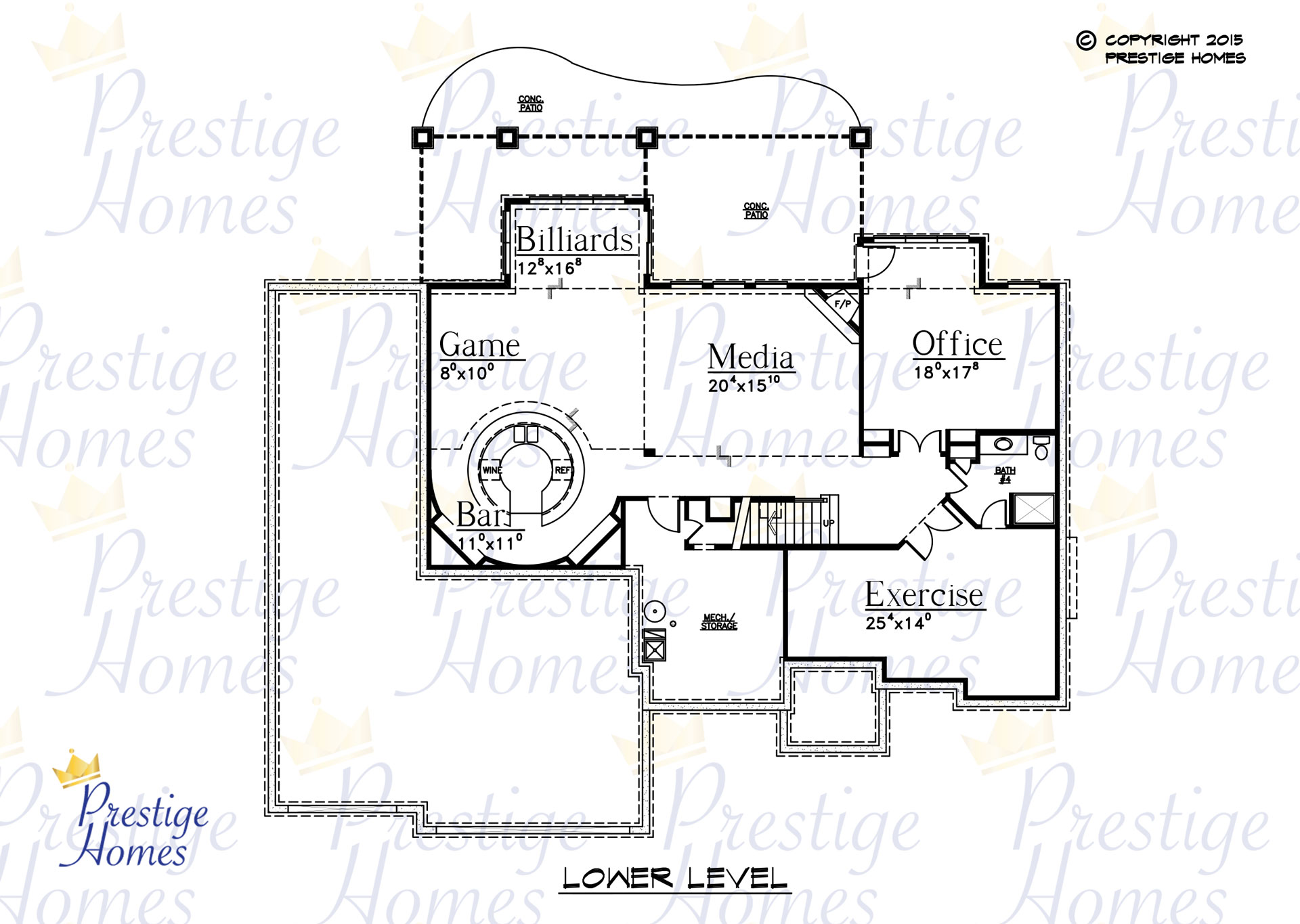 Prestige Homes - Floor Plan - Bella SOD - Lower