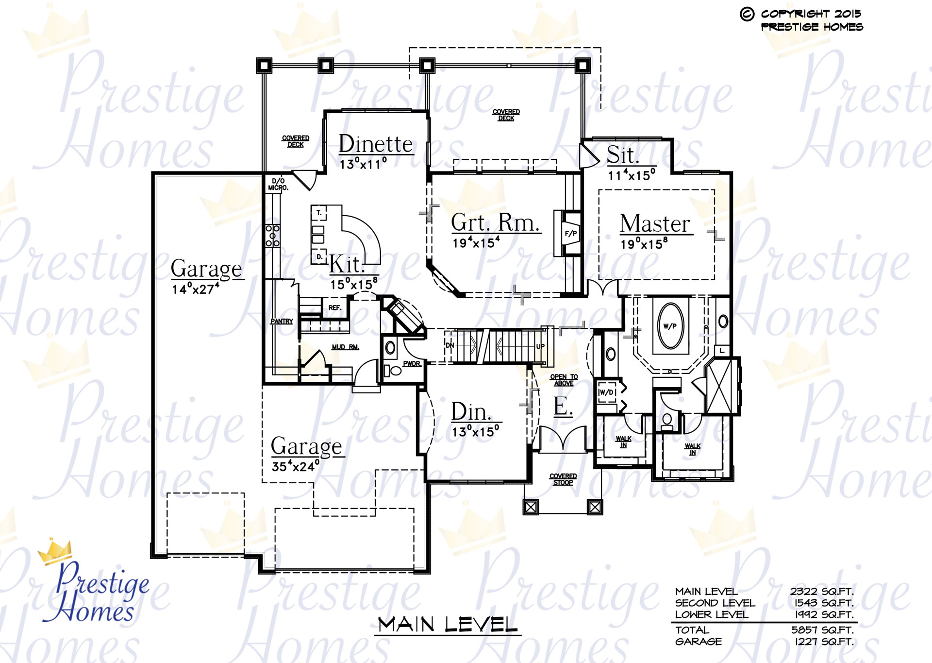 Prestige Homes - Floor Plan - Bella SOD - Main