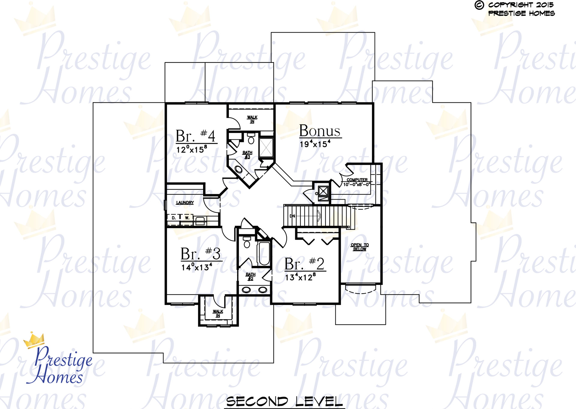 Prestige Homes - Floor Plan - Bella SOD - Upper