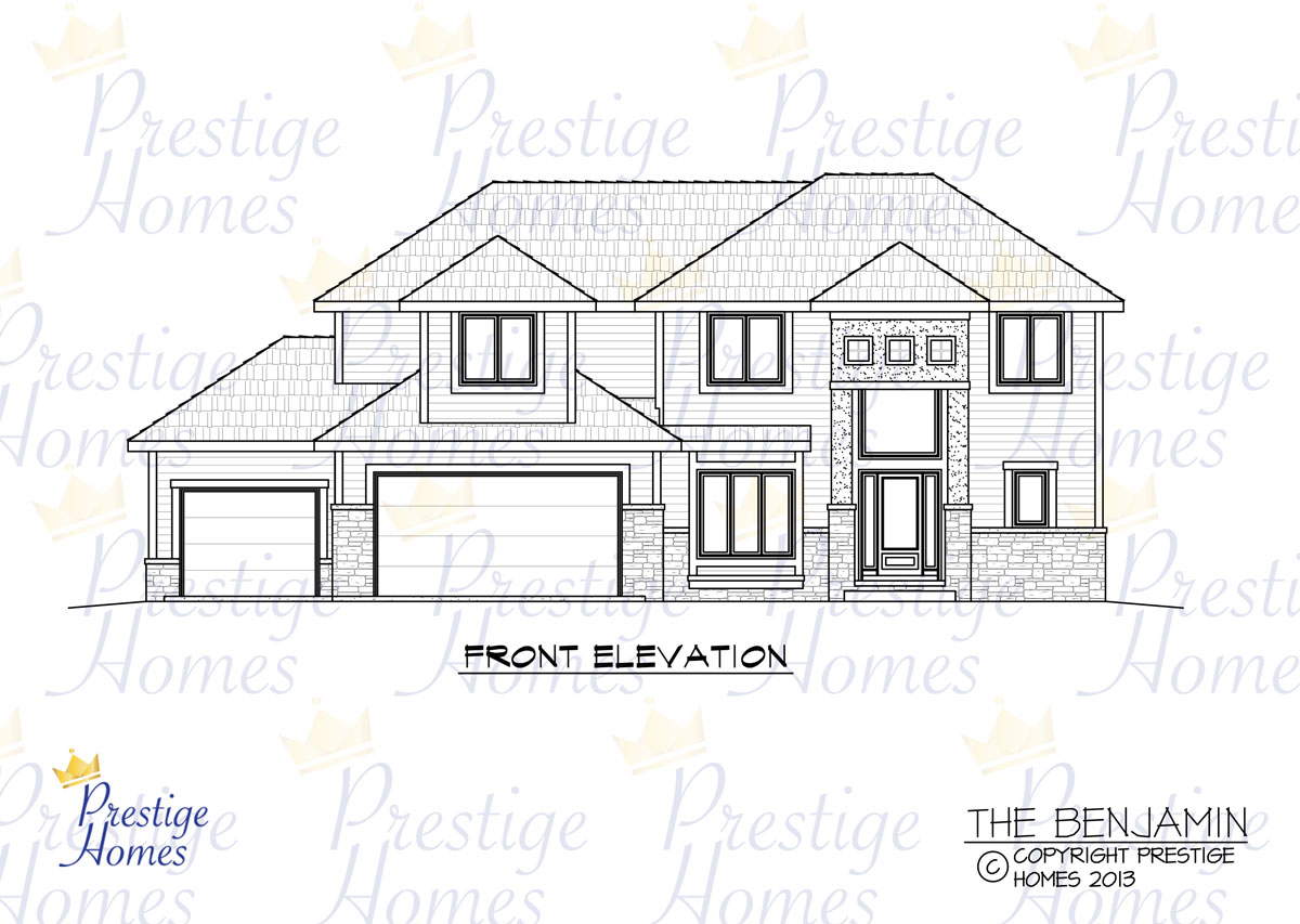 Prestige Homes - Floor Plan - Benjamin - Front