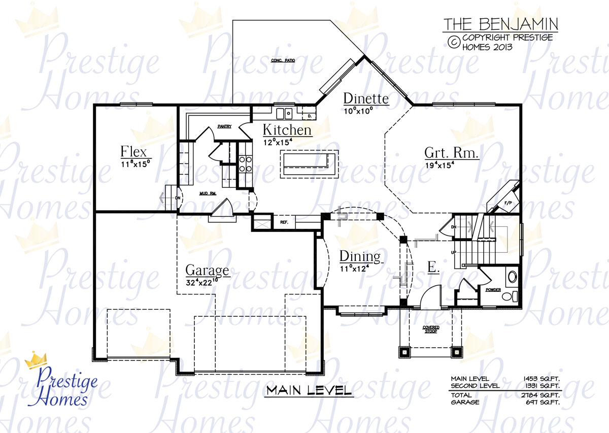 Prestige Homes - Floor Plan - Benjamin - Main