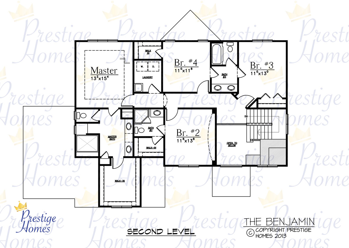 Prestige Homes - Floor Plan - Benjamin - Upper