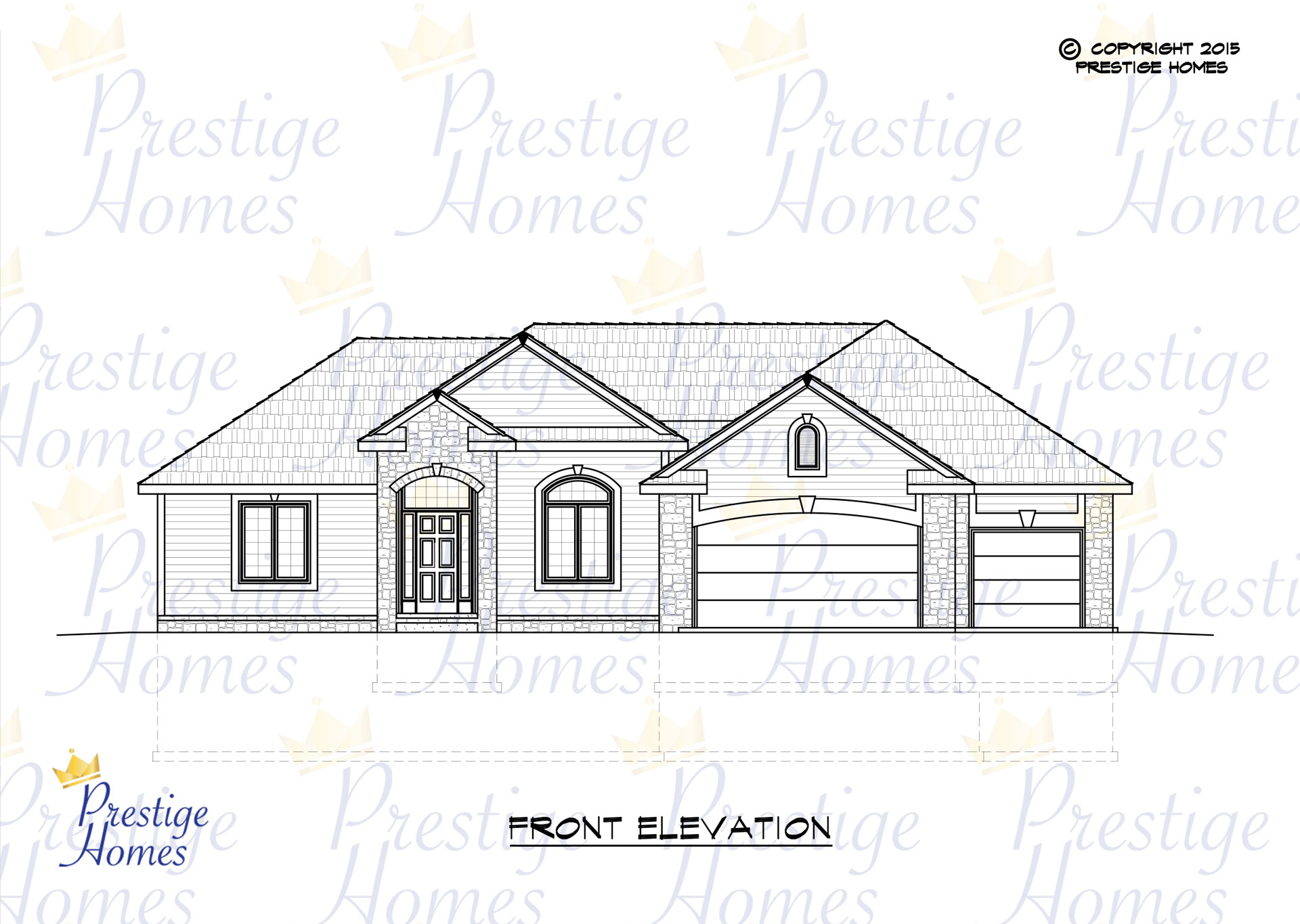 Prestige Homes - Floor Plan - Kelsey 2 Bed - Front