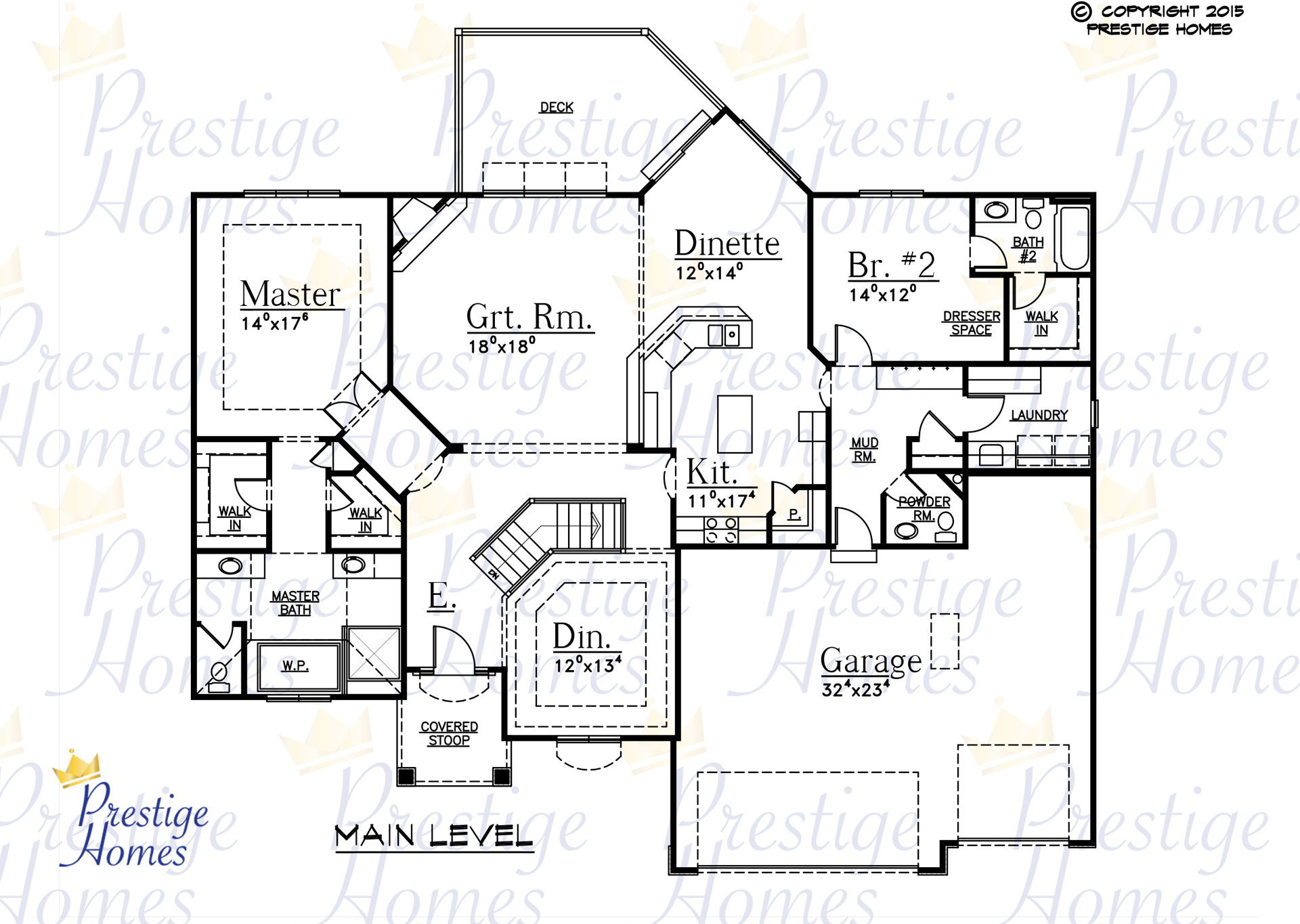 Prestige Homes - Floor Plan - Kelsey 2 Bed - Main
