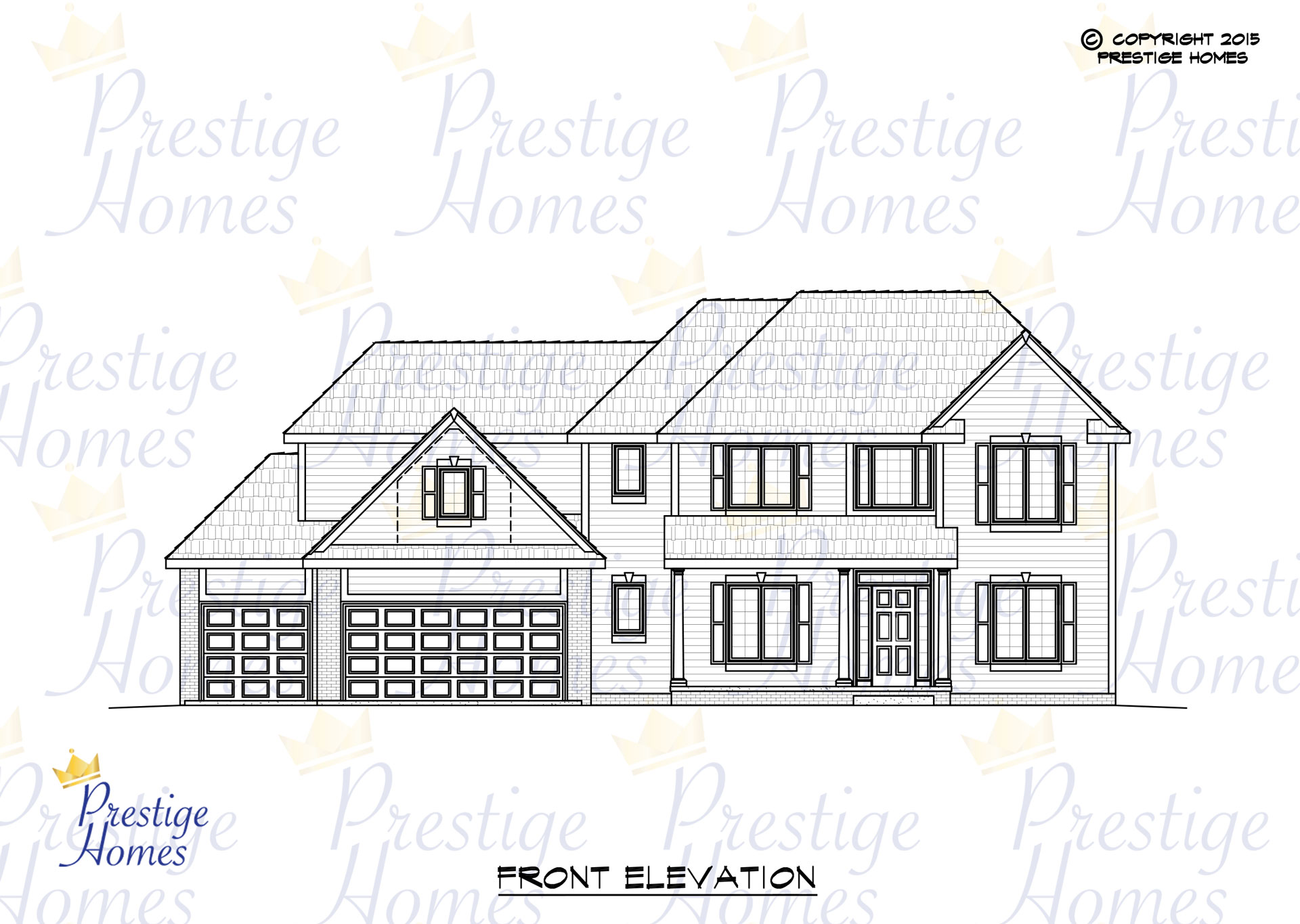 Prestige Homes - Floor Plan - Mitchel - Original - Front