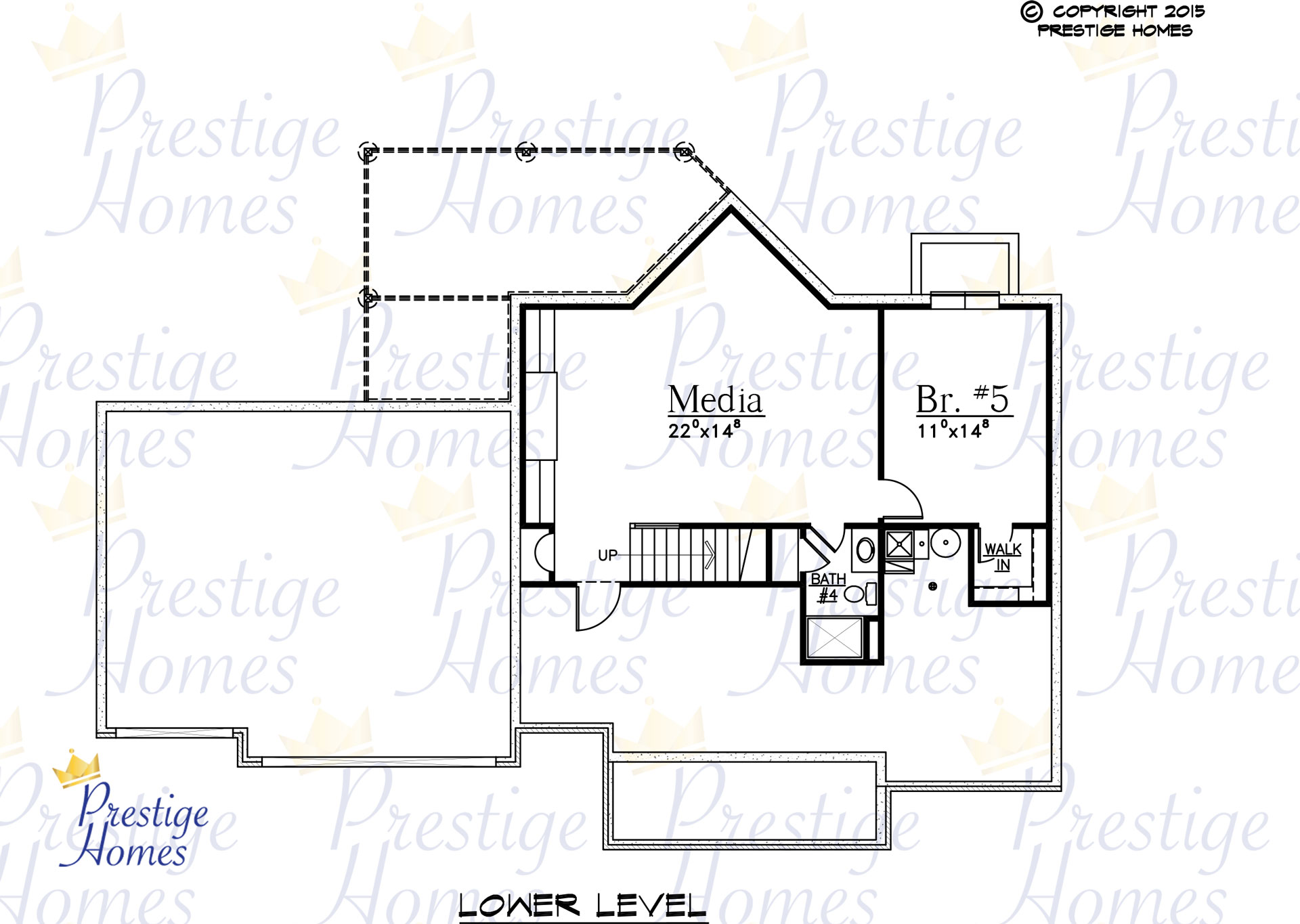 Prestige Homes - Floor Plan - Mitchel - Original - Lower