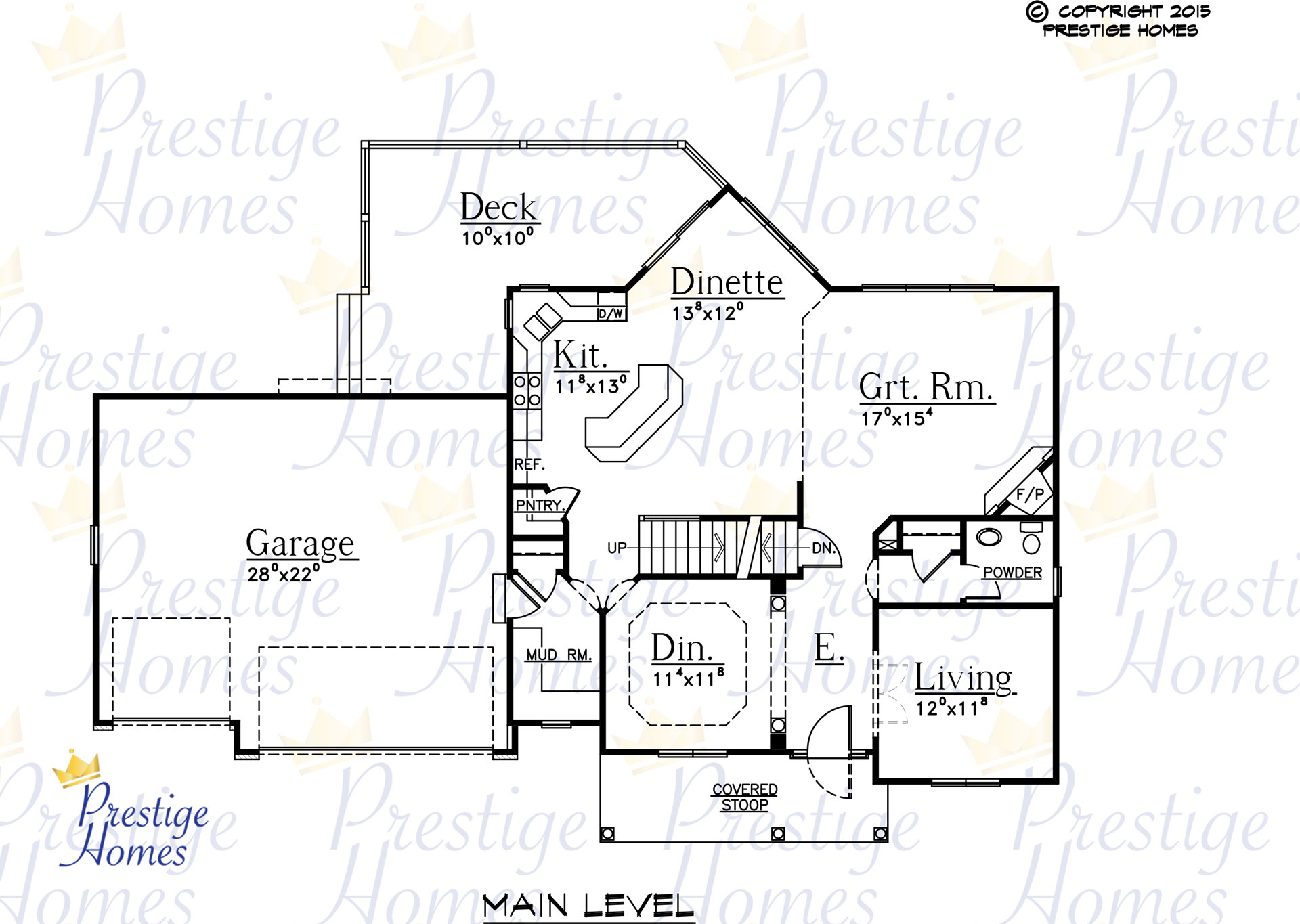 Prestige Homes - Floor Plan - Mitchel - Original - Main