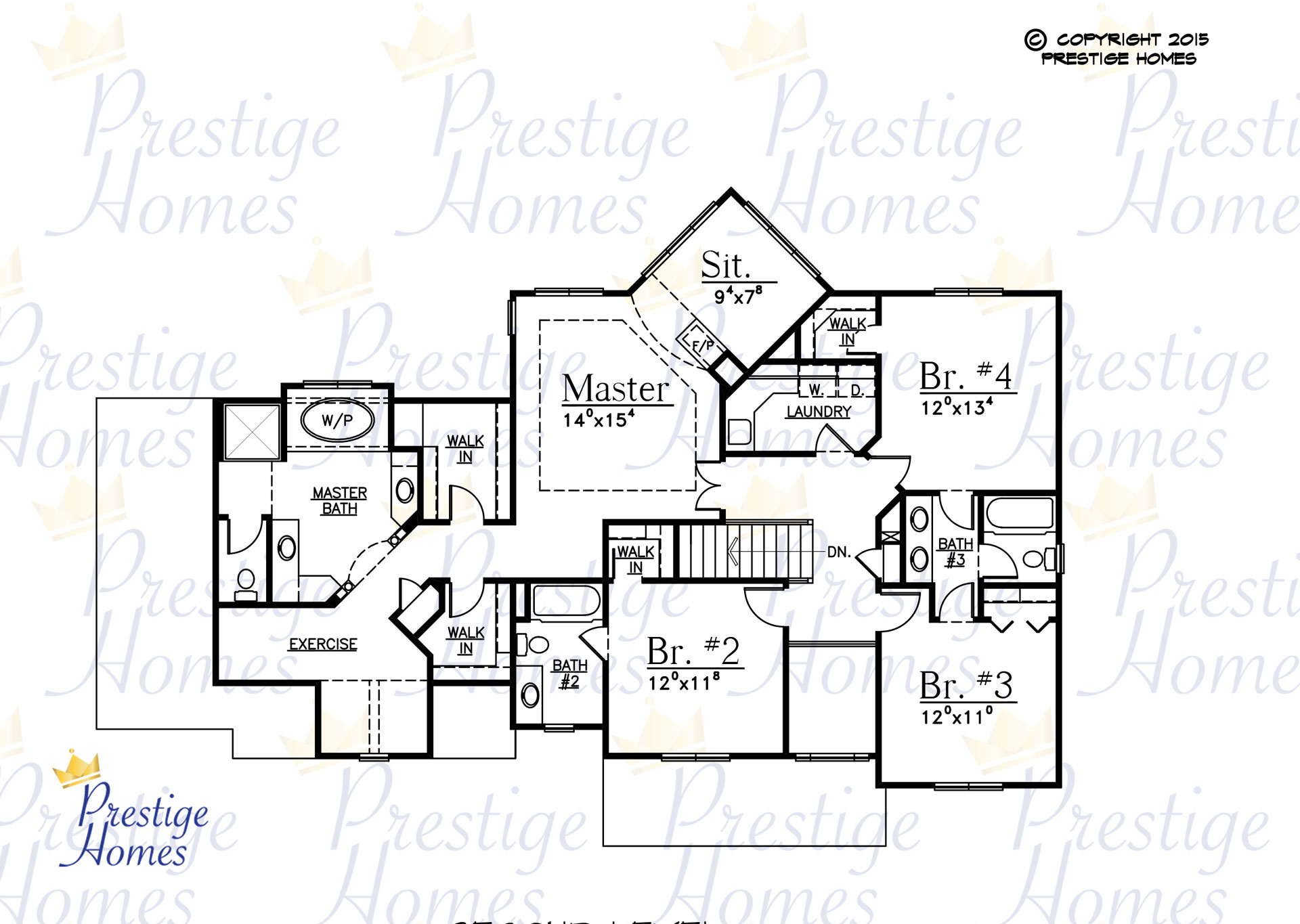 Prestige Homes - Floor Plan - Mitchel - Original - Upper