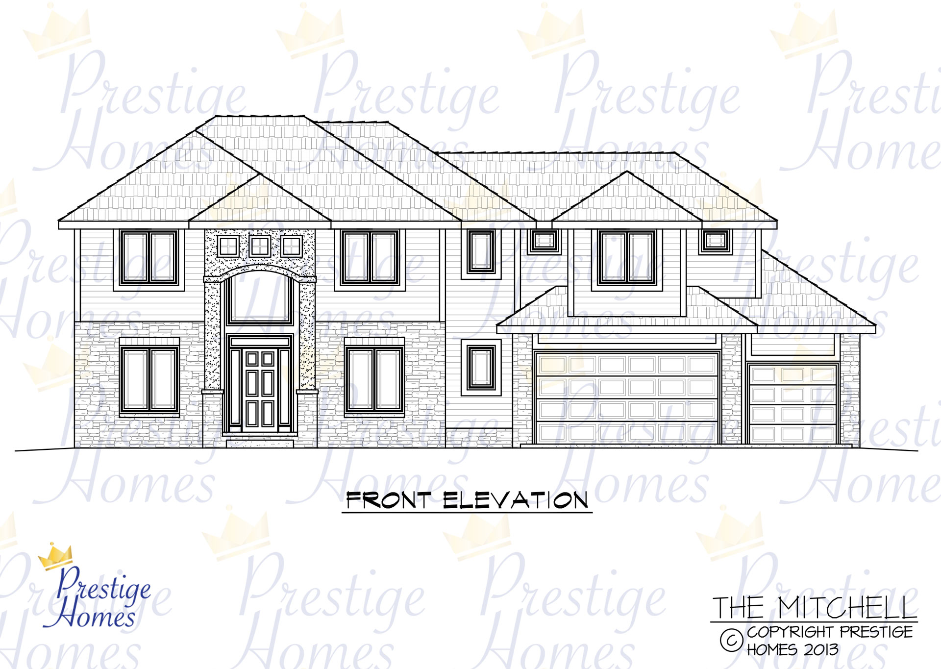 Prestige Homes - Floor Plan - Mitchell - Front