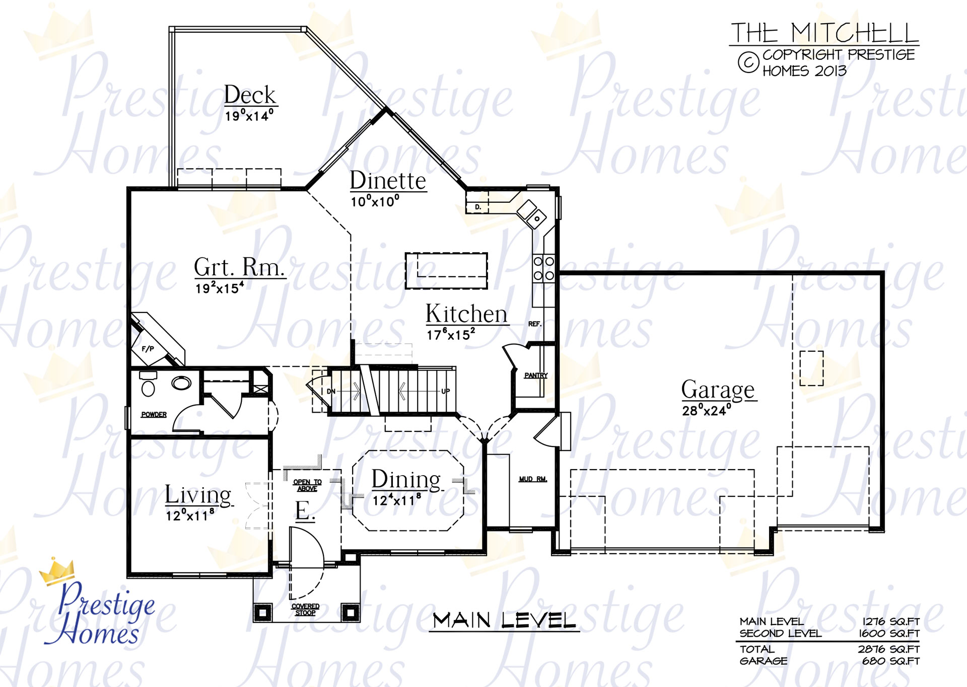 Prestige Homes - Floor Plan - Mitchell - Main