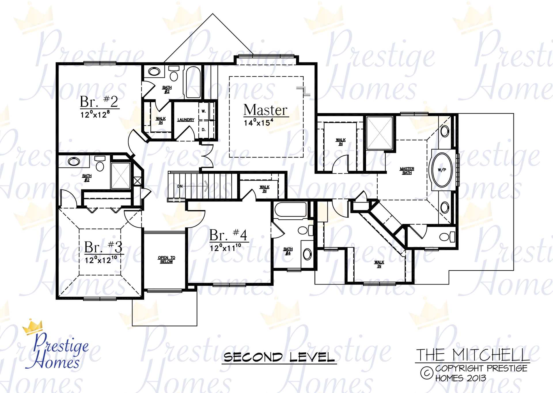 Prestige Homes - Floor Plan - Mitchell - Upper